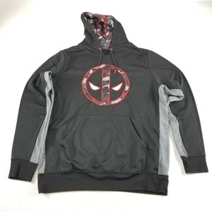 Marvel Deadpool Large Hoodie Sweatshirt Camo